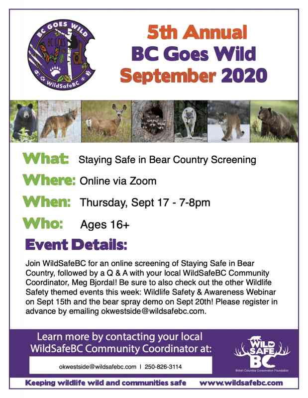 BC Goes Wild Wildlife Staying Safe in Bear Country Screening